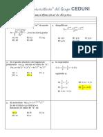 Examen de Algebra Ceduni Grupo I