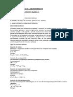 REACCIONES QUÍMICAS - PRACTICA DE LABORATORIO