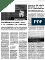 ESPAÑA. ESPAÑA SE LIBRA DE LA DEMANDA EN LA UE POR LA CONTAMINACIÓN
