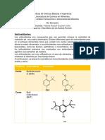 Tarea Fabi Colorantes, Antioxidantes y Conservadores