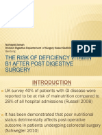 The Risk of Deficiency Vitamin B1 After Post