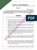 IAS Mains Mechanical Engineering 1991