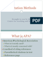 A Pa Citation Methods
