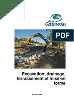 Cahier - Excavation, Teraasement, Mise en Forme