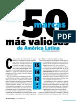 50 Marcas Mas Valiososas en Llatinoamerica