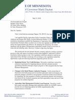 Dayton's Ag Policy Omnibus Bill Veto Letter