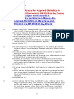 Solution Manual for Applied Statistics in Business and Economics 4th Edition by Doane