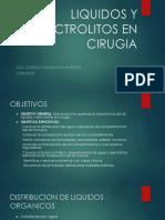 Liquidos y Electrolitos en Cirugia