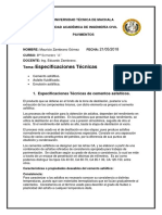 Especificaciones Tecnicas de Materiales Bituminosos
