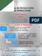 Area de Produccion y Operaciones