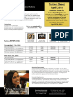 I-MD - Tuition Sheet - April 2018