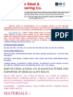 Fasteners Exporter Manufacturer-repute Steel INDIA BOLTS