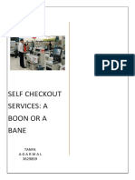 Essay on - Self Checkout Services
