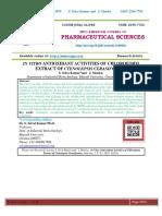IN VITRO ANTIOXIDANT ACTIVITIES OF CHLOROFORM EXTRACT OF CTENOLEPSIS CERASIFORMIS