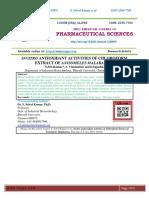 INVITRO ANTIOXIDANT ACTIVITIES OF CHLOROFORM EXTRACT OF ANISOMELES MALABARICA.