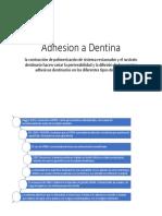 Adhesion a Dentina