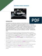 Funciones Varias Variables ...Investigacón Formativa