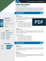 Yanaka Resume Template ByRezumeet A4