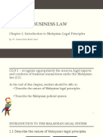 Introduction to Malaysia Legal System