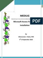 MEDILIG FE MSAccess - Installation