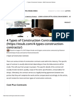 4 Types of Construction Contracts - ESUB Construction Software