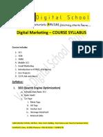Digital Marketing Courses Syllabus India