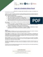 Appel à Projets Fondation Blaise Pascal