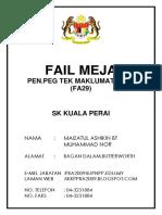 Fail Meja Juruteknik Fa29(Kup)