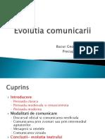 Evolutia Comunicarii in Timp (1)