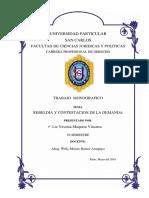 Monografia FINAL Sobre Rebeldia y Contestacion de Demanda SAN CARLOS