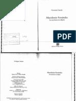 García - Macedonio Fernández, La escritura en objeto