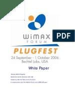 Mobile WiMAX Plugfest Whitepaper