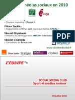 Sport et Médias Sociaux - les présentations des intervenants