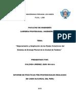 Informe Practicas Pre Profesionales II - Jaramillo