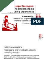 Housekeeper Manager Ergo Training
