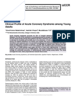 Clinical Profile of Acute Coronary Syndrome among Young Adults