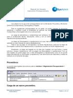 Manual SysAdmin - Ejecución Presupuestaria