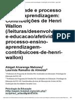 Afetividade e Processo Ensino-Aprendizagem_ Contribuições de Henri Wallon - Ψψψ.psibr