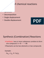 types of chemical reactions notes 2