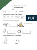 Evaluacion Diagnostica de 1º Grado
