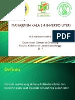 Manajemen Kala III & Inversio Uteri