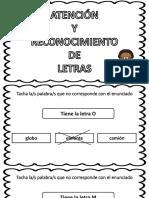 Atencion Reconocimiento Letra