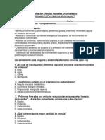 Evaluacion Ciencias Octavo 2