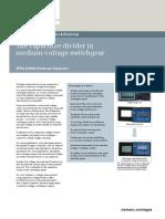 Medium Voltage Switchgear Capacitive Divider