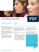 Classical Singing - Summer School