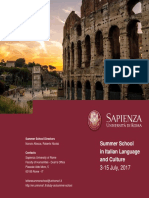 Brochure Summer School in Italian Language and Culture 2017