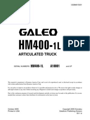 HM400-1L CEBD015301 pdf | Troubleshooting | Crane (Machine)