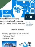 NAIR Vadodara Role of ICT in Multi Modal-Rajnish-Kr