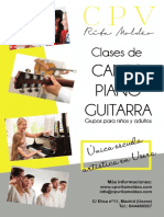 FLYER CPV Canto, Piano y Guitarra