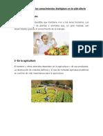Aplicaciones de Los Conocimientos Biológicos en La Vida Diaria